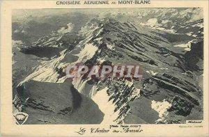 Old Postcard Cruise Aerienne Mont Blanc La Chaine des Aravis