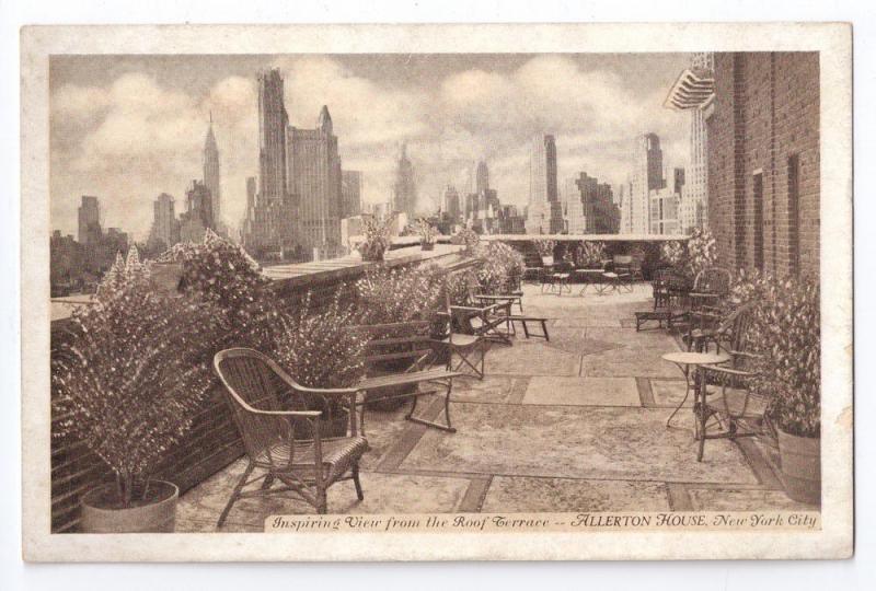 Allerton House New York City NY Roof Terrace Garden
