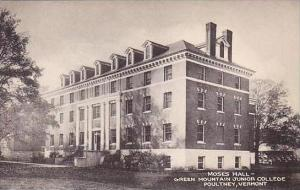 Vermont Poultney Moss Hall Green Mountain Junior College