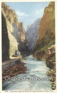 Royal Gorge, Colorado, CO USA Trains, Railroads Postcard Post Card Old Vintag...