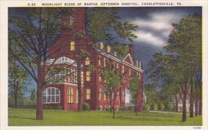 Moonlight Scene Of Martha Jefferson Hospital Charlottesville Virginia