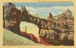 Walls of Jericho, Cedar Breaks, Utah, unused linen Postcard