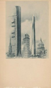 NEW YORK CITY , 1900-10s ; Ocean Liner Kaiser Wilheim Compared to skyscrappers
