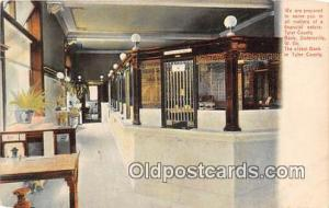Tyler County Bank Sistersville, W VA, USA Postcard Post Card Sistersville, W ...