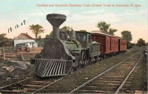 br105801 carillonand granville railway train quebec canada