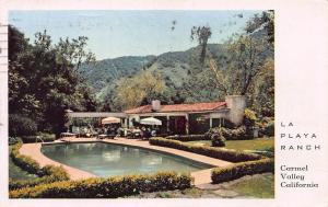 La Playa Ranch, Carmel Valley, California, Early Postcard, Used in 1955
