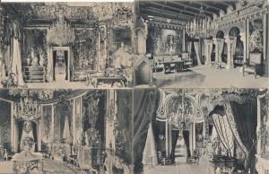 Germany Linderhof castle interior set 4 vintage postcards