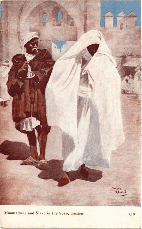 CPA Tanger Mountaineer and Slave in the Soko MAROC (688980)