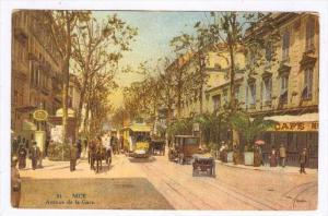 Avenue De La Gare, Nice (Alpes Maritimes), France, 1900-1910s