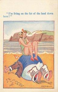 Comic Postcard Garland, Rudolf & Co. W116, Seaside Joke, Humour KL7