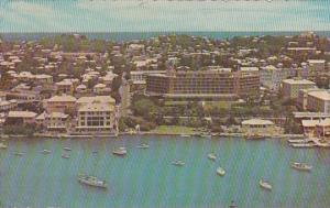 Bermuda Aerial View The Bermudian Hotel On Hamilton Harbour 1964