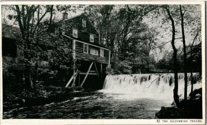 Old Mill Silvermine Tavern Antique Shops Norwalk CT c1950 Vintage Postcard Q15