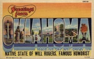 Oklahoma Large Letter State States Post Cards Postcards  Oklahoma USA