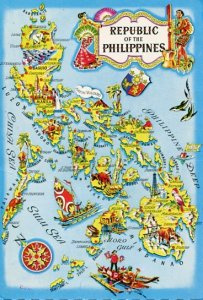 PHILIPPINES: VINTAGE MAP OF THE ARCHIPELAGO