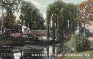 NEW ZEALAND, 1900-1910´s; Gloucester St. Bridge, Christchurch