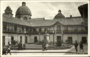 Bogota Columbia Plazuela Colonial Real Photo Postcard Used 1954