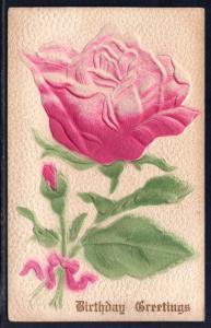 Birthday Greetings,Rose,Embossed
