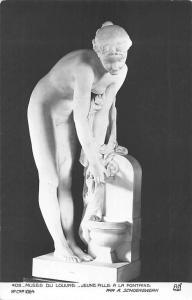 Art Postcard: Musee du Louvre, Jeune Fille a la Fontaine, par A. Schoenwerk