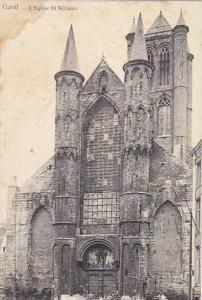 Belgium Gent Gand L'Eglise Saint Nicolas