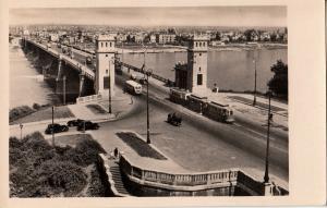 Poland Warszawa bridge tramway photo postcard