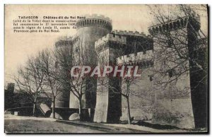 Old Postcard Tarascon Chateau du Roi Rene says
