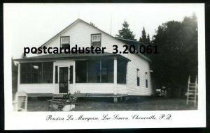 061 - CHENEVILLE Quebec 1950s Lac Simon Pension La Marquise. Real Photo Postcard