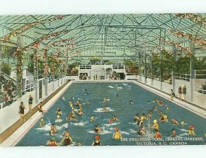 Victoria BC Canada Crystal Gardens HotelSwimming Pool Indoor  Postcard # 5757