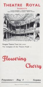 Flowering Cherry Robert Bolt Rare Theatre Royal Margate Kent Programme