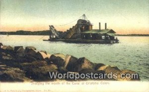 Dredging the mouth of the Canal Cristobal Colon Panama Unused