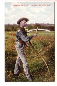 Canadian Rural Life Series, A Handy Son of the Soil, Man with Scythe
