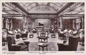 Canadian Pacific S S Empress Of Britain Mayfair Room Real Photo