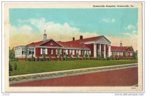 Hospital Greenville Pennsylvania pu 1938
