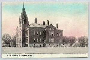 Hampton Iowa~High School~Basketball Hoop & Backboard~1916