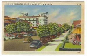 Beautiful Residential Street in Ocean City, New Jersey, 30-40s