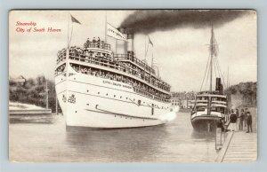 South Haven MI-Michigan, Steamship City Of South Haven, Vintage Postcard