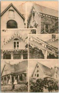 Vintage 1940s Colorado Postcard CENTRAL CITY ARCHITECTURE 6 Building Views