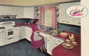 ROSELLE , New Jersey , 1950-60s ; The Capitol Line Steel Kitchen Cabinets & S...