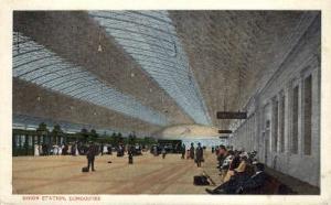Union Station, Concourse, Washington DC, DC, USA Railroad Train Depot Postcar...