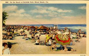FL - Miami Beach. Surfside Park Beach Scene