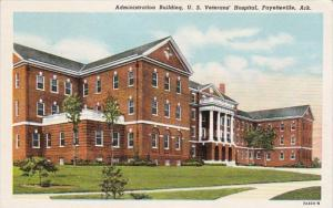 Arkansas Fayetteville Administration Building U S Veterans' Hospital Curteich