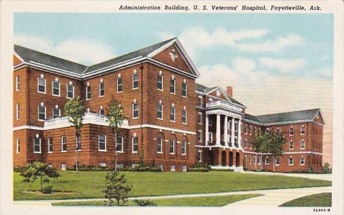 Arkansas Fayetteville Administration Building U S Veterans' Hospital Curteich