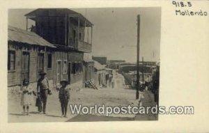 Real Photo Street Scene Mollendo, Peru Stamp on back