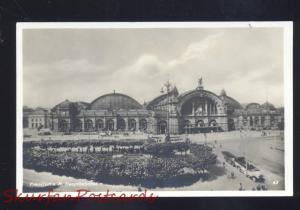 FRANKFURT A.M. HERMANY HAUPTBAHNHOF RAILROAD STATION DEPOT VINTAGE POSTCARD