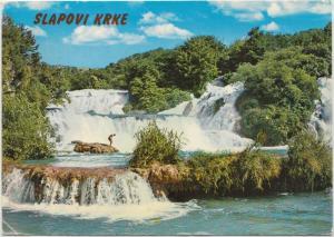 Slapovi Krke, used Postcard