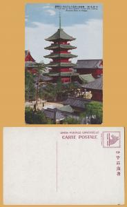 Vintage-Tennoji and it's Five Storied Tower with History, Osaka, Japan