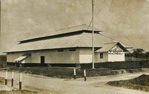 indonesia, SUMATRA, DOLOK SINUMBAH, Bioscoop Cinema (1910s) RPPC Postcard