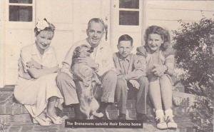 California Hollywood Tom Brennan's Family Outside Encino Home