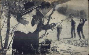 Cowboy Old West Movie Actor Exhibit Card JACK HOXIE & HELEN HOLMES