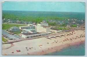 Postcard DE Rehoboth Beach Delaware Airview New Henlopen Hotel & Motor Lodge X5