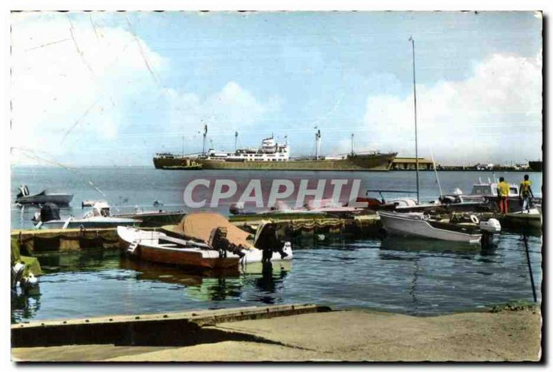 CPA Djibouti View of the port Dimensions of Somalis
